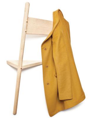 Mobilier - Portemanteaux, patères & portants - Portemanteau mural Wallhax / En forme de chaise - ENOstudio - Chêne naturel - Chêne