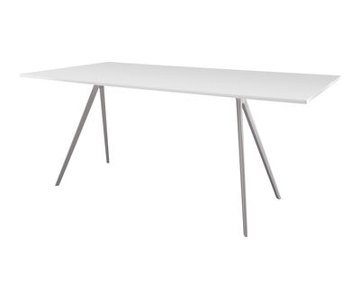 Furniture - Dining Tables - Baguette Rectangular table - 205 x 85 cm - MDF top by Magis - White legs / White MDF top - Lacquered MDF, Varnished cast aluminium