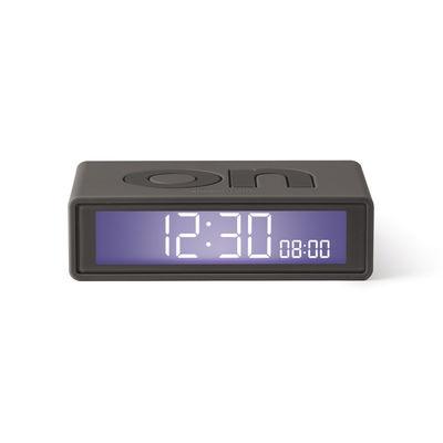 Accessoires - Réveils et radios - Réveil LCD Flip + Travel / Mini réveil réversible de voyage - Lexon - Gris - ABS, Gomme