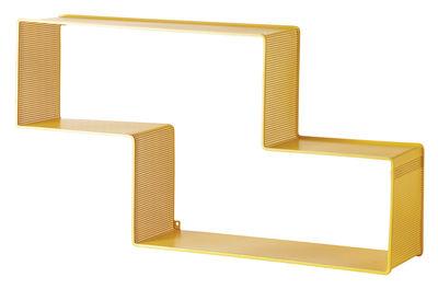 Arredamento - Scaffali e librerie - Scaffale Dedal - L 90 cm x H 49 cm - Rieditata 50' di Gubi - Giallo - Acciaio inossidabile