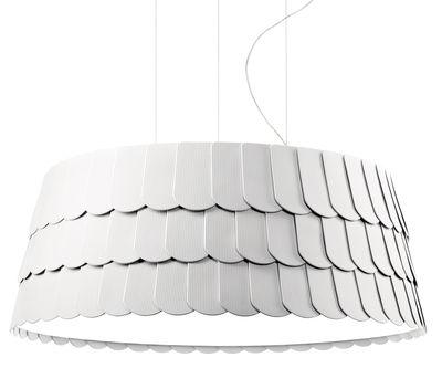 Illuminazione - Lampadari - Sospensione Roofer - Ø 79 x H 32 cm di Fabbian - Bianco - Gomma
