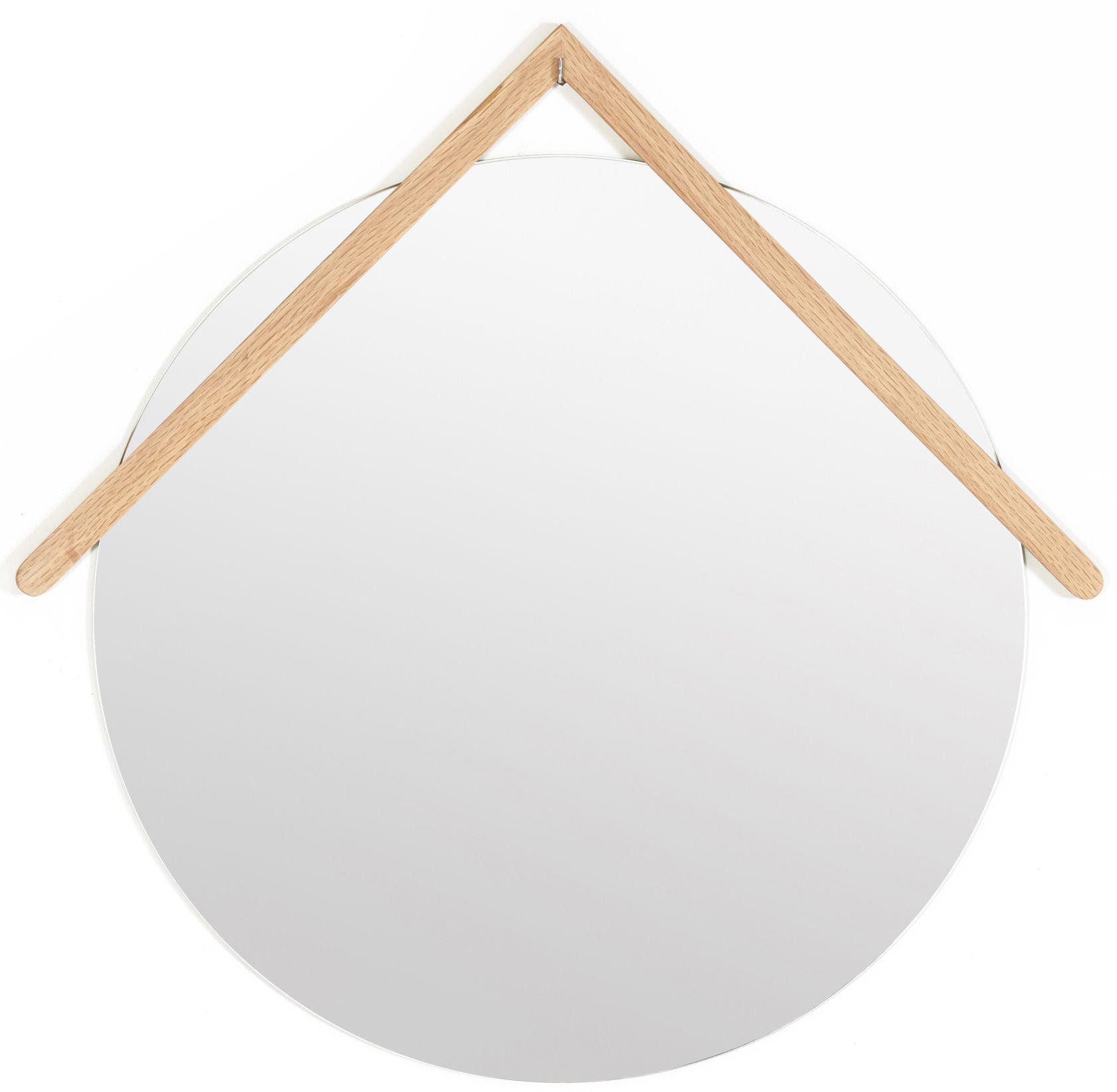 Interni - Specchi - Specchio Grand Lubin / Ø 55 cm - Hartô - Quercia - Rovere, Specchio