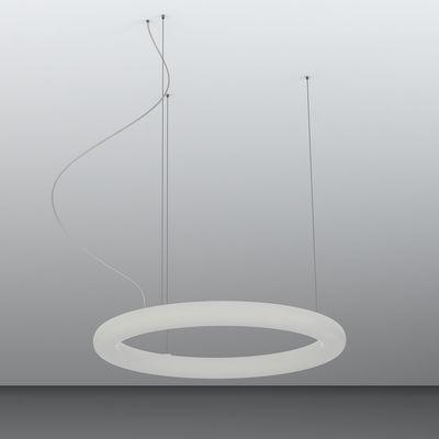 Suspension Giotto LED / Ø 80 cm - Polyéthylène - Slide blanc en matière plastique