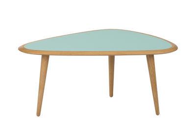 Table basse Small / 85 x 53 cm - Laque - RED Edition chêne naturel,vert minéral laqué en bois