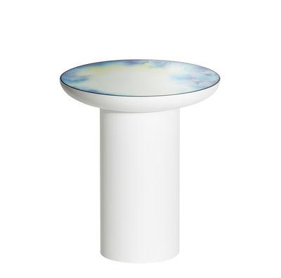 Table d'appoint Francis / Ø 40 x H 45 cm - Miroir - Petite Friture blanc/miroir en métal/verre