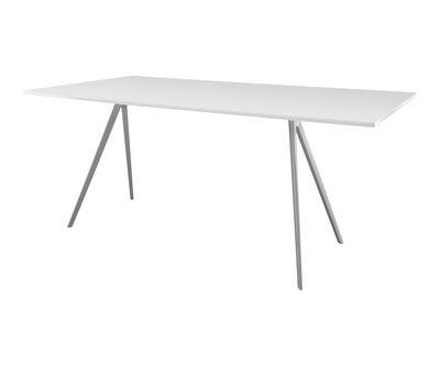 Mobilier - Tables - Table rectangulaire Baguette / MDF - 205 x 85 cm - Magis - Pied blanc / Plateau MDF blanc - Fonte d'aluminium verni, MDF laqué