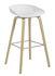 Tabouret de bar About a stool AAS 32 / H 65 cm - Plastique & chêne verni mat - Hay
