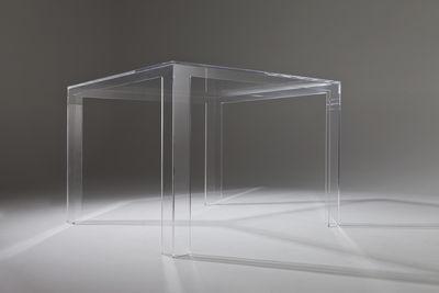 Tavoli Da Pranzo Kartell.Tavolo Quadrato Invisible Di Kartell Trasparente Made In Design