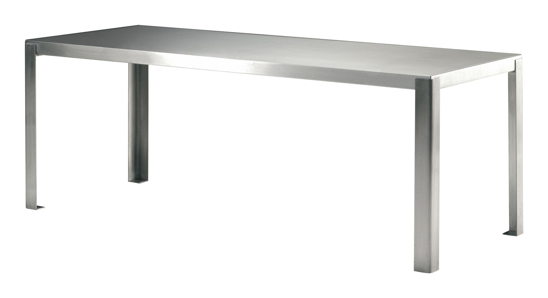 Scopri tavolo stainless table rettangolare l 200 cm acciaio inox