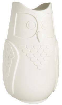 Dekoration - Für Kinder - Bubo Tischleuchte / H 44 cm - Slide - Weiß - recycelbares Polyethen
