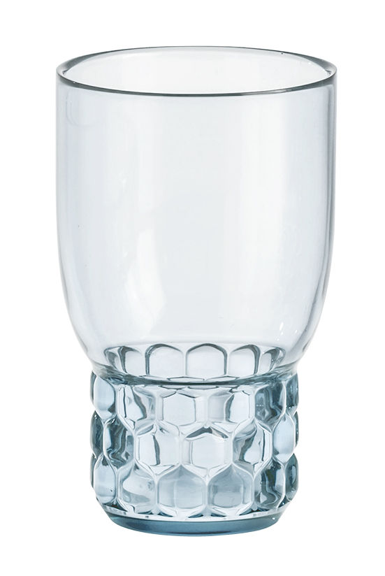 Arts de la table - Verres  - Verre Jellies Family / Medium - H 13 cm - Kartell - Bleu ciel - PMMA