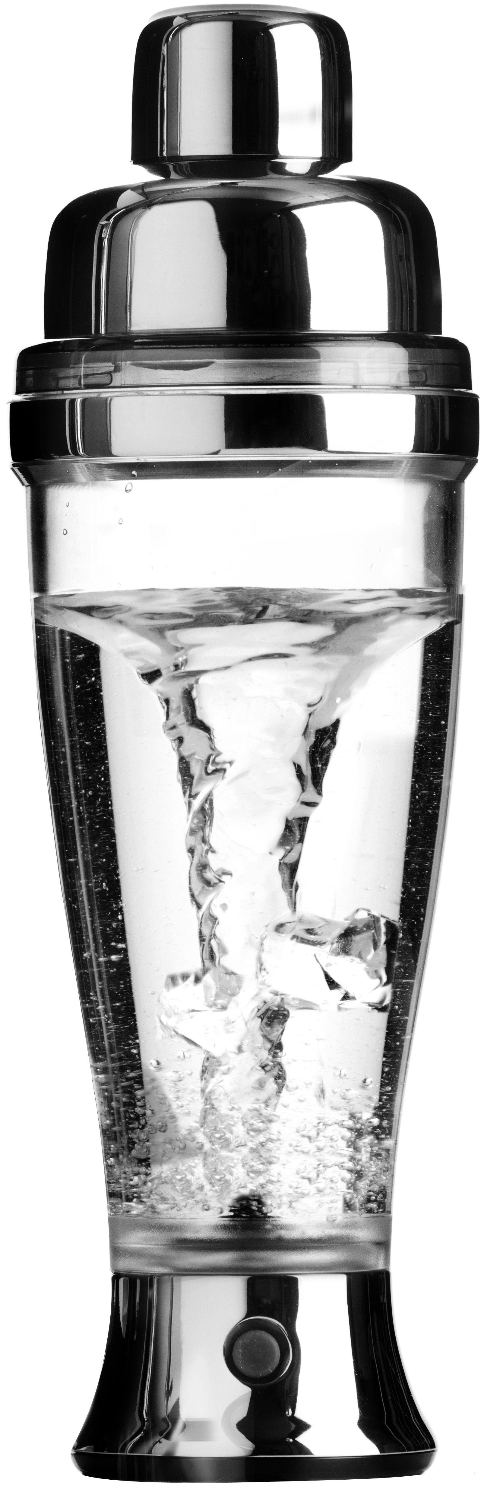Cucina - Elettrodomestici - Agitatore per cocktail - da cocktail elettrico di L'Atelier du Vin - Trasparente / Argento - Acciaio inossidabile, Plastica