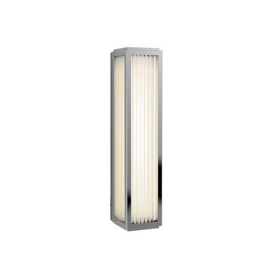 Illuminazione - Lampade da parete - Applique Boston LED - / Lamelle di vetro - H 37 cm di Astro Lighting - Cromo - Acciaio, Vetro