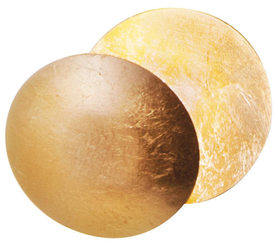 Luminaire - Appliques - Applique Lederam W / LED - 2 disques Ø 17 cm - Catellani & Smith - Or - Aluminium, Feuille d'or, Métal peint