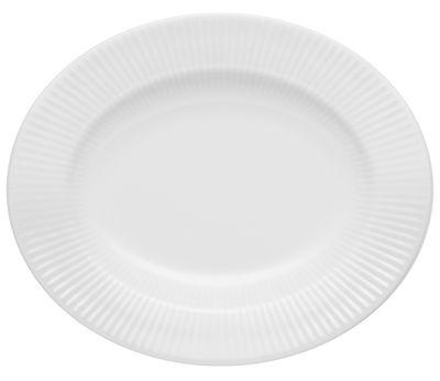 Assiette creuse Legio Nova / Ovale - Ø 25 cm - Porcelaine - Eva Trio blanc en céramique