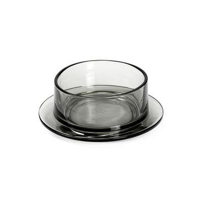 Arts de la table - Saladiers, coupes et bols - Bol Dishes to Dishes - Verre / High - Ø 20,5 x H 8 cm - valerie objects - Gris - Verre