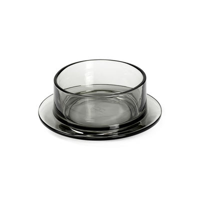 Tableware - Bowls - Dishes to Dishes - Verre Bowl - / High - Ø 20.5 x H 8 cm by valerie objects - Grey - Glass