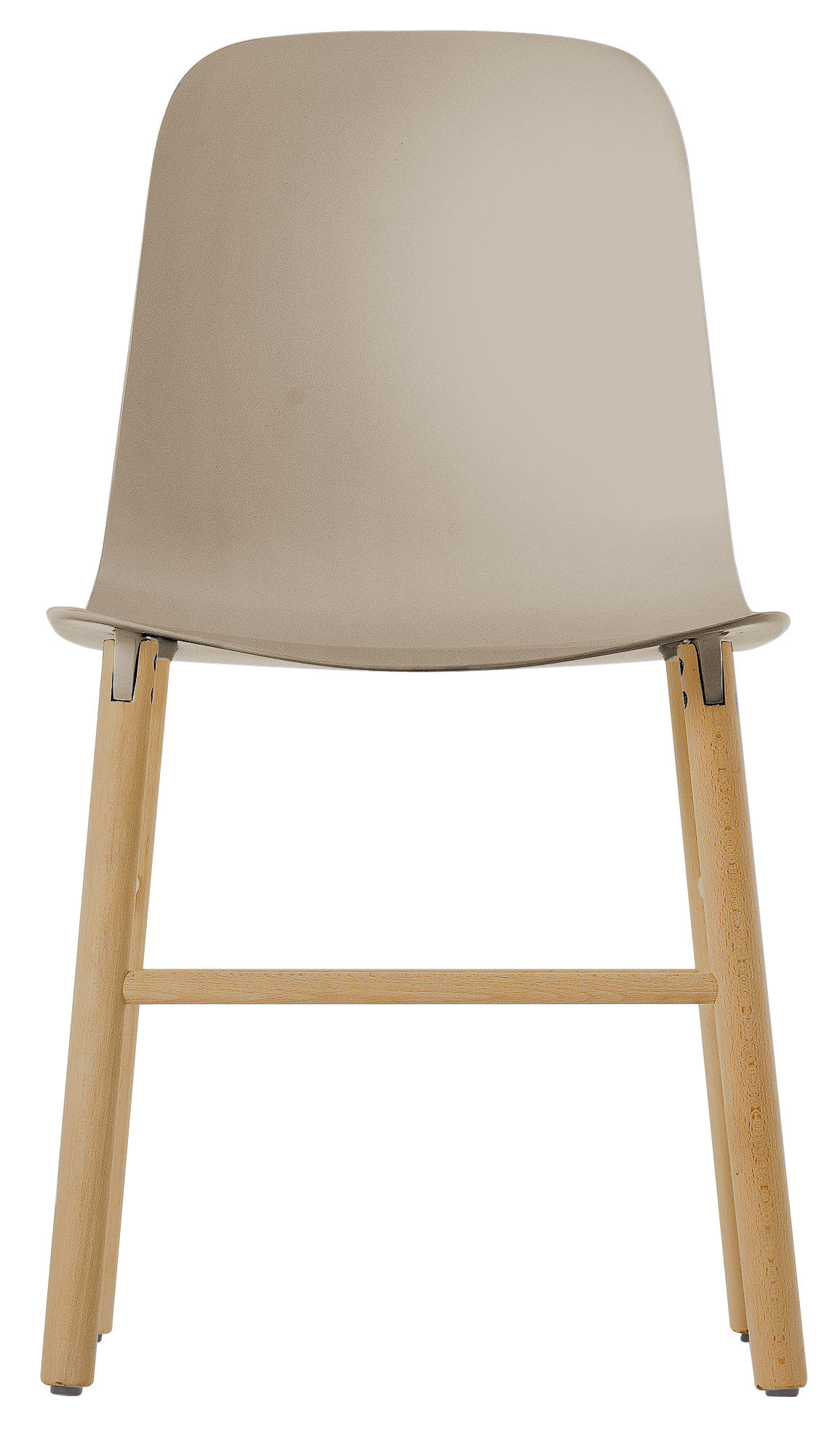 Furniture - Chairs - Sharky Chair - Plastic & wood legs by Kristalia - Beige / Natural wood - Natural beechwood, Polyurethane