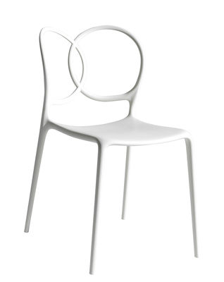 Chaise empilable Sissi Outdoor - Driade blanc en matière plastique