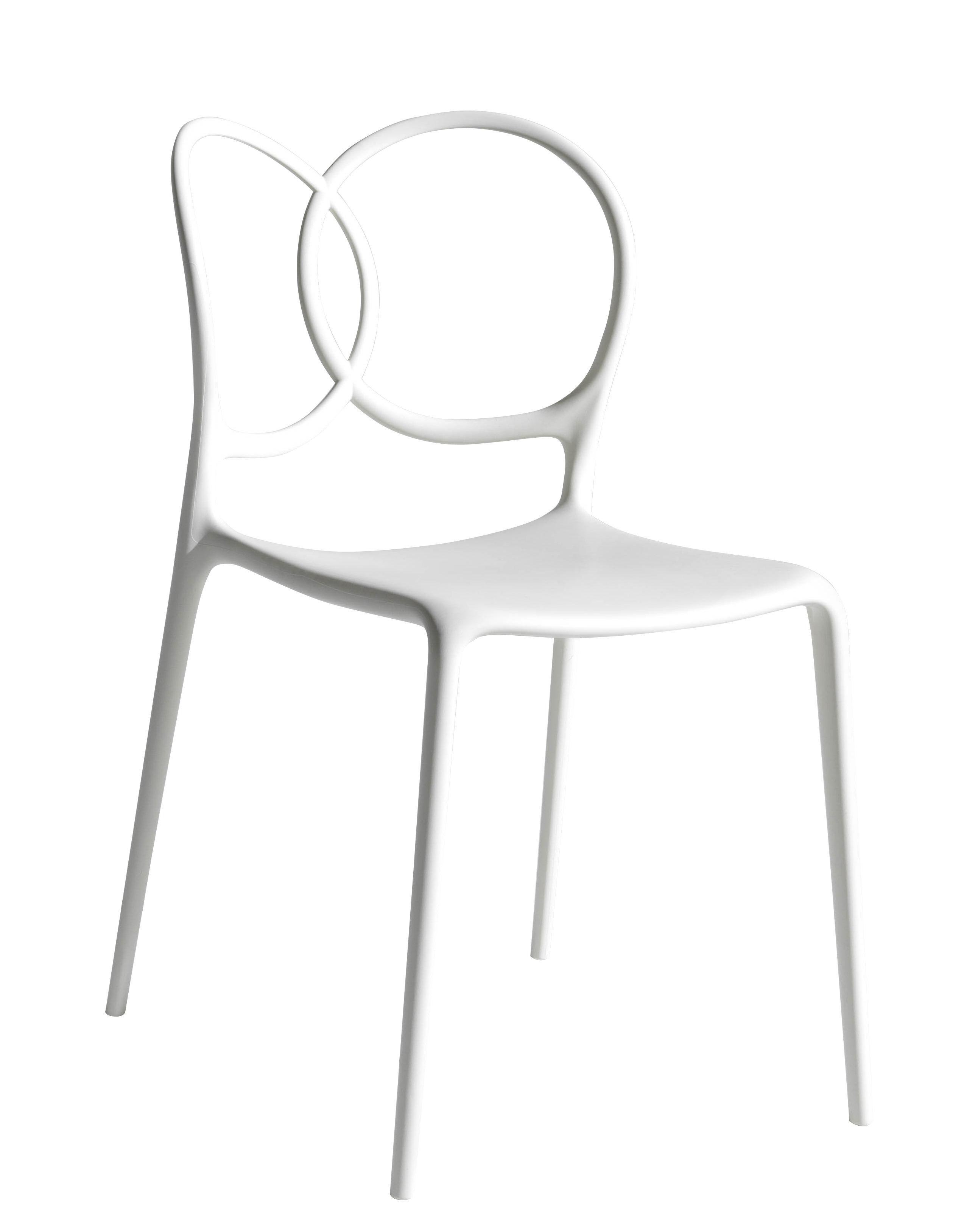 Mobilier - Chaises, fauteuils de salle à manger - Chaise empilable Sissi Outdoor - Driade - Blanc - Fibre de verre, Polyéthylène, Polypropylène