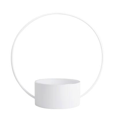 Arts de la table - Corbeilles, centres de table - Corbeille O Large / Corbeille - Ø 60 x H 61 cm - XL Boom - Blanc - Acier  laqué, Verre
