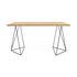 Oscar Desk - / W 140 x D 75 cm - Oak by POP UP HOME