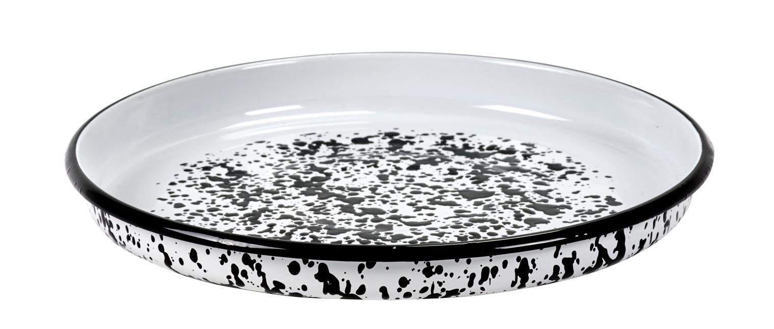 Tableware - Serving Plates - Pasta Pasta Dish - / For pasta - Steel - Ø 35 cm by Serax - Black & white - China