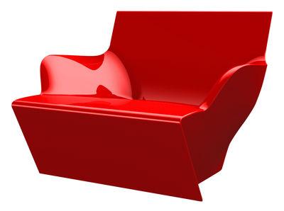 Chaise Kami San version laquée - Slide laqué rouge en matière plastique