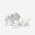 Orso Small Figurine - / 3D modelled ceramic - L 18 cm by Moustache