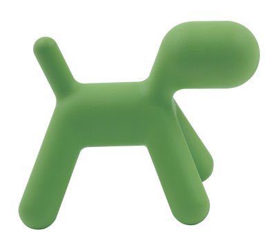 Möbel - Möbel für Kinder - Puppy Small Kinderstuhl - Magis Collection Me Too - Grün - kleines Modell - rotationsgeformtes Polyäthylen