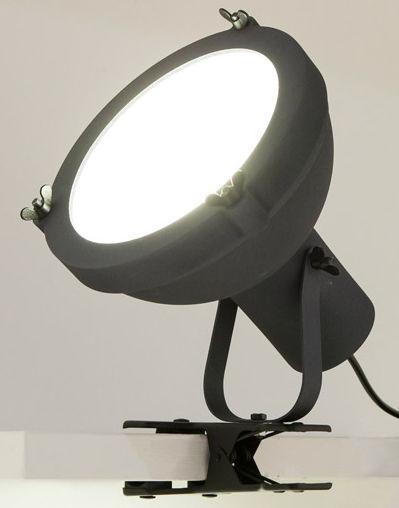 Illuminazione - Lampade da tavolo - Lampada a pinza Projecteur 165 - / Riedizione 1954 di Nemo - Antracite-blu scuro - alluminio verniciato, Vetro opalino