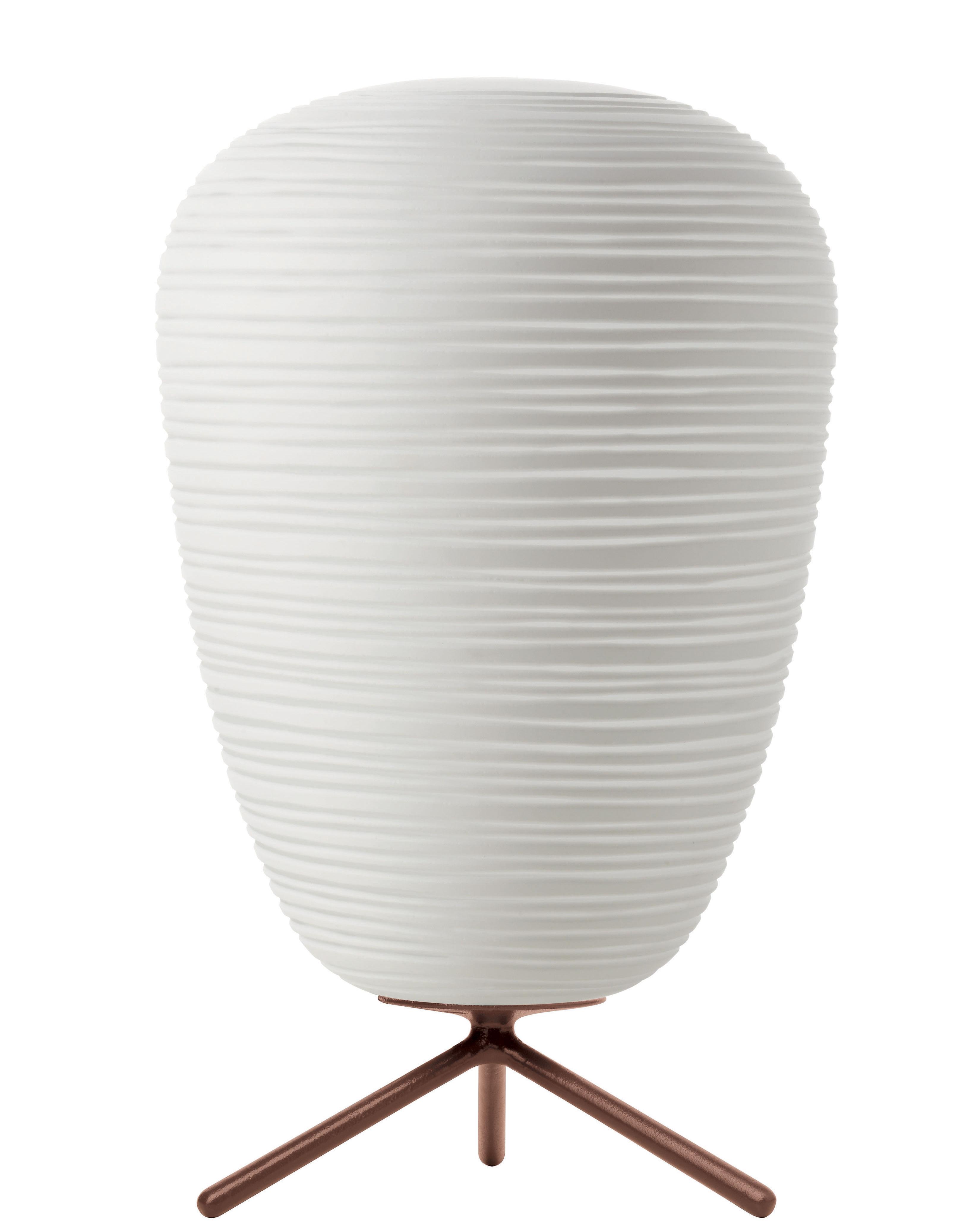 Luminaire - Lampes de table - Lampe de table Rituals 1 / Ø 24 x H 40 - Foscarini - Interrupteur / Blanc - Verre soufflé bouche