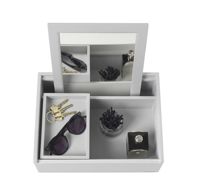 Decoration - Decorative Boxes - Balsabox Personal MINI Make up box - / Dressing table - 33 x 25 cm by Nomess - Grey - Plywood