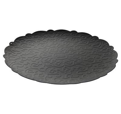 Arts de la table - Plateaux - Plateau Dressed Ø 35 cm / Sous-assiette - Alessi - Noir - Acier inoxydable avec coloration résine époxy