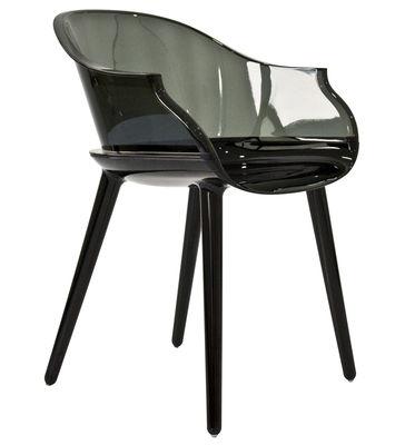 Arredamento - Sedie  - Poltrona Cyborg di Magis - Gambe: nero opaco / Schienale: grigio trasparente - policarbonato