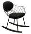 Rocking chair Pina - / Tessuto Kvadrat - metallo & piedi legno di Magis