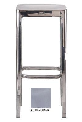 Arredamento - Sgabelli da bar  - Sgabello bar Outdoor - h 76 cm di Emeco - Alluminio opaco - Alluminio riciclato