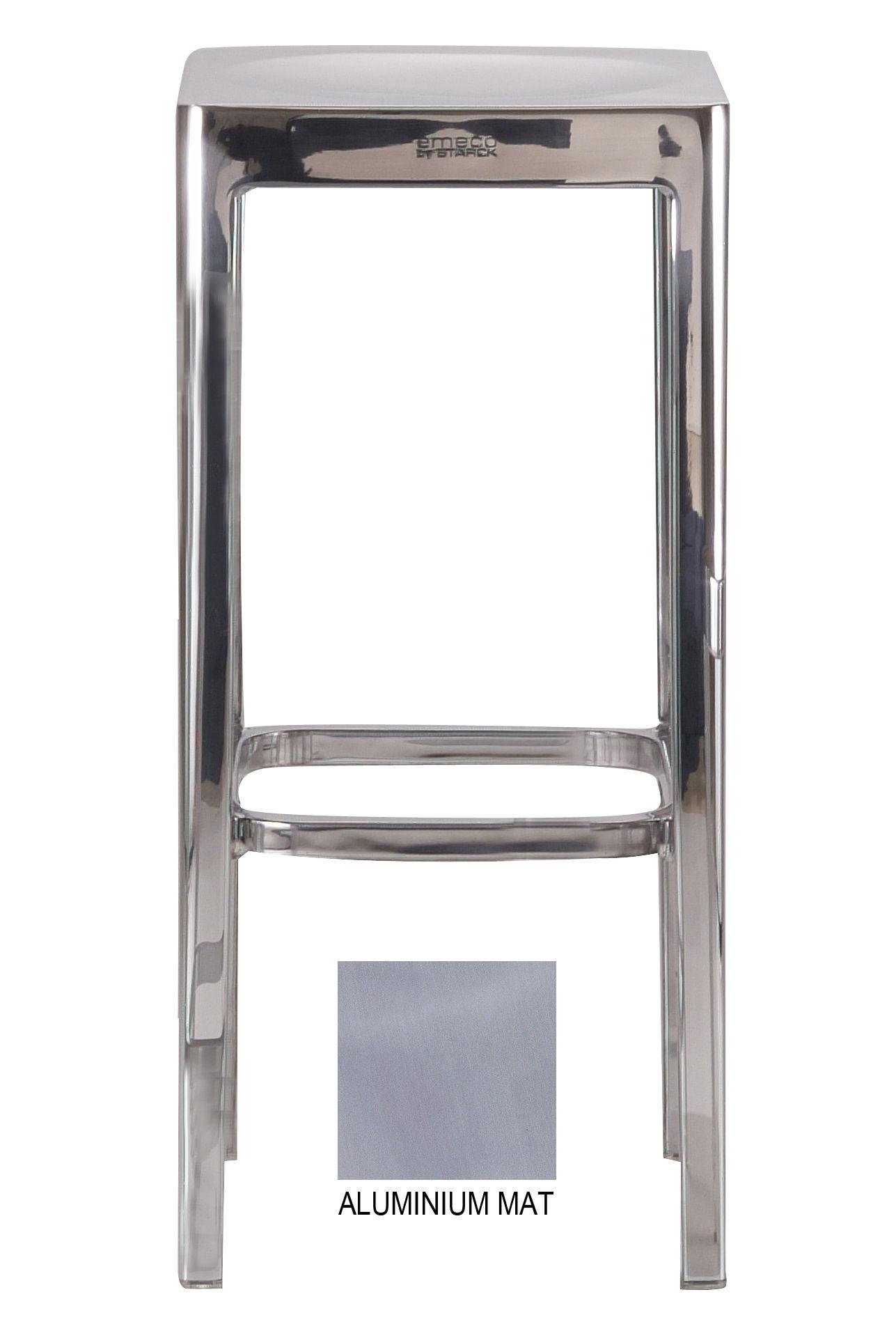 Arredamento - Sgabelli da bar  - Sgabello bar Outdoor - h 76 cm di Emeco - Alluminio opaco - Aluminium recyclé