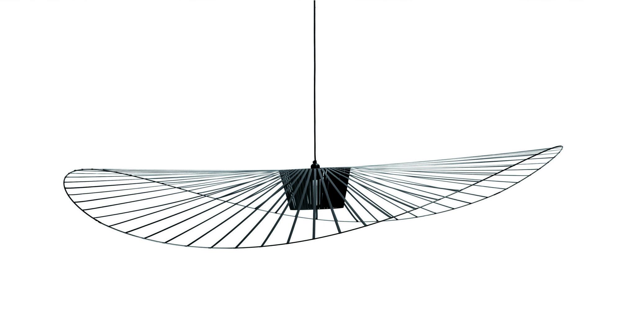 Illuminazione - Lampadari - Sospensione Vertigo - small Ø 140 cm di Petite Friture - Nero - Fibra di vetro, Poliuretano
