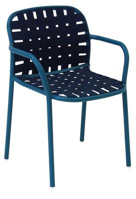 Yard Stapelbarer Sessel / Sitzfläche aus elastischen Gurten - Emu - Blau