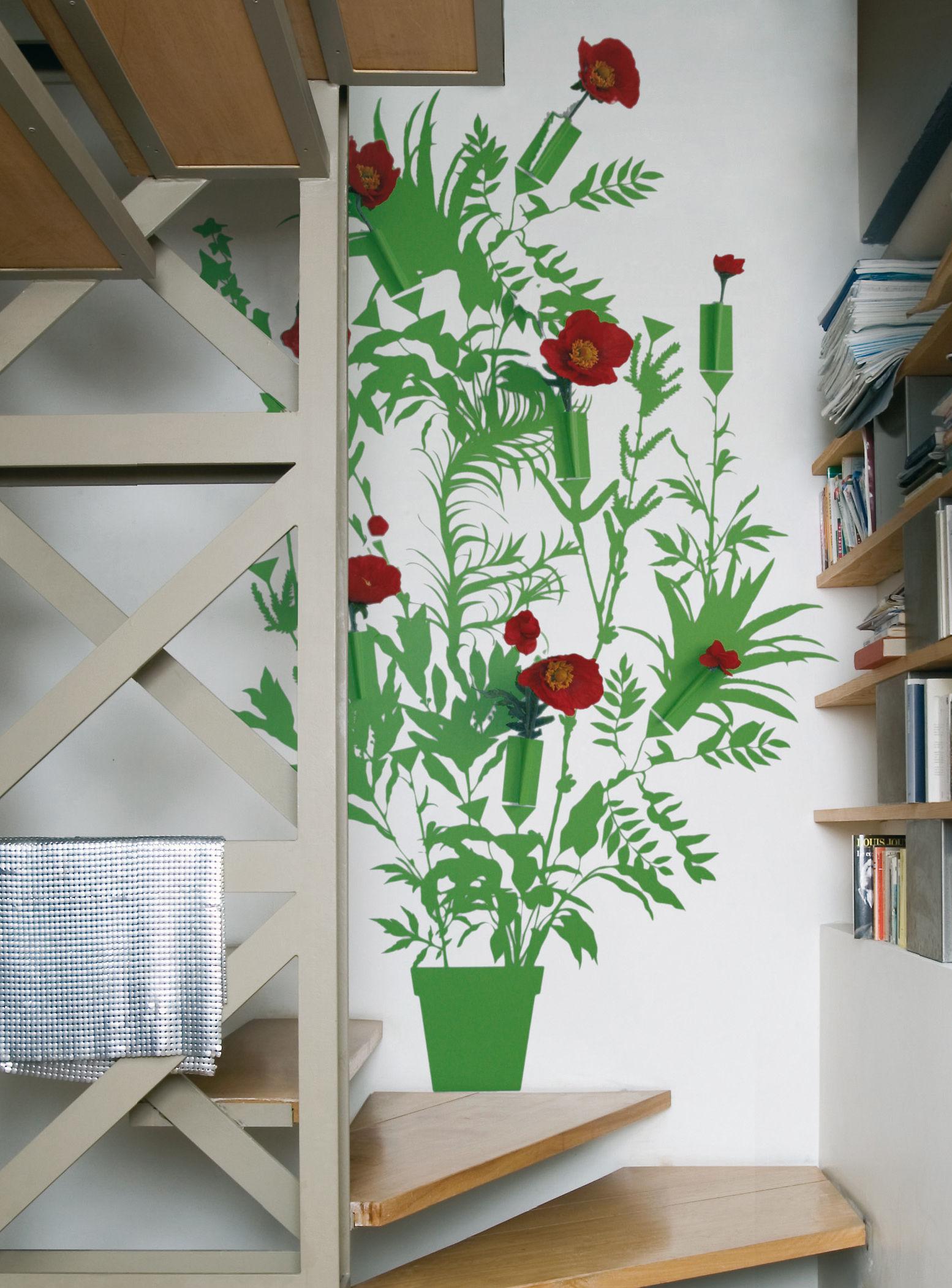 Dekoration - Stickers und Tapeten - Vynil + Flower Sticker - Domestic - Grün - Vinyl