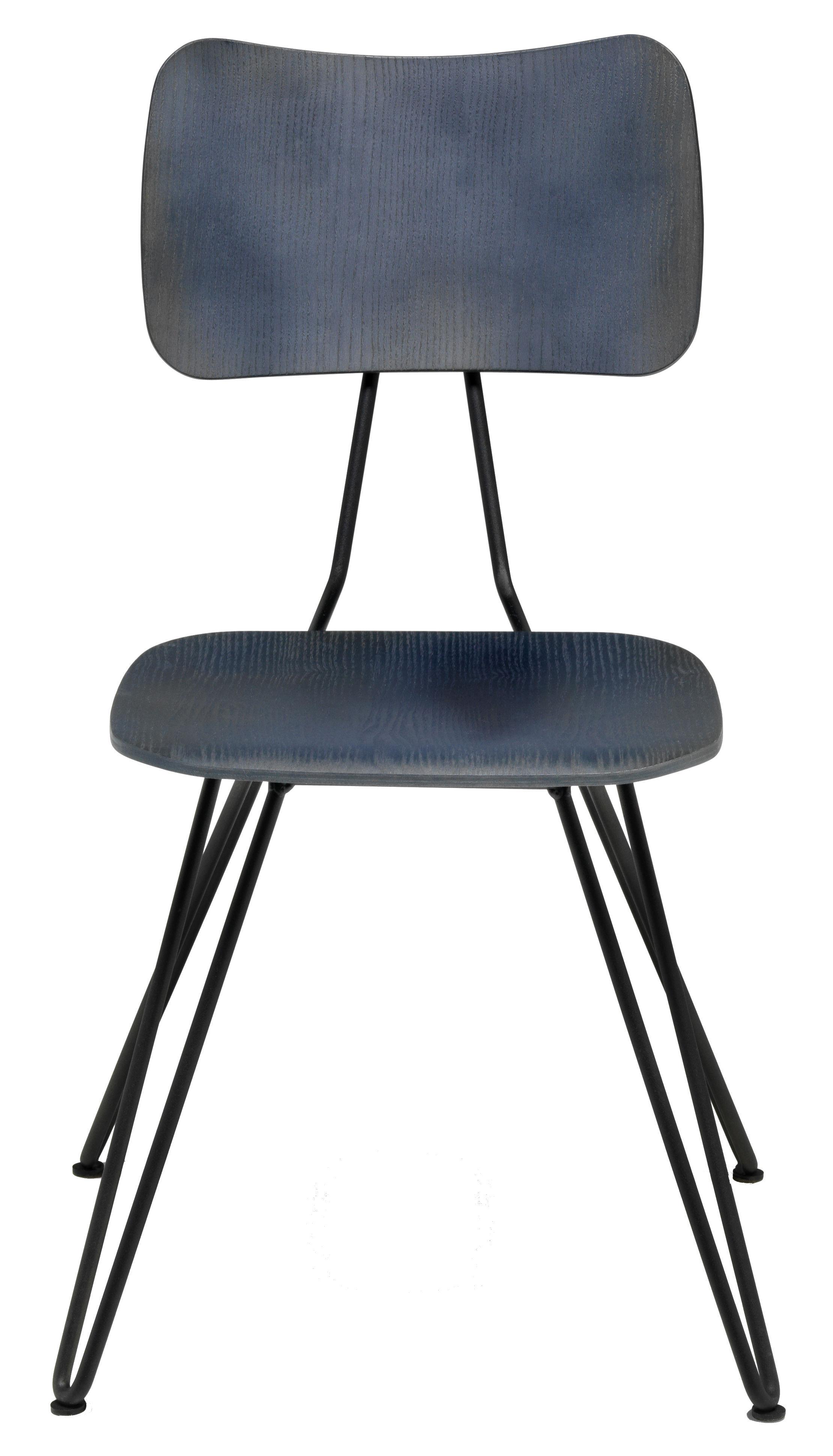 Möbel - Stühle  - Overdyed Stuhl - Diesel with Moroso - Indigoblau - lackierter Stahl, Vielschicht-Sperrholz in getönter Esche