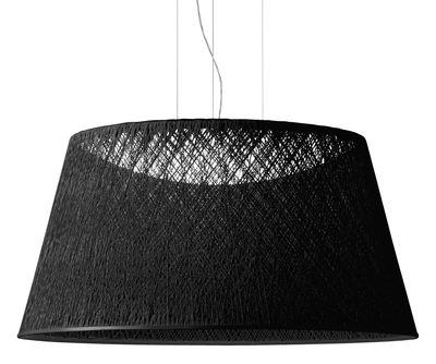Suspension Wind / Ø 60 x H 30 cm - Vibia noir en matière plastique
