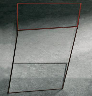 Table basse Wireframe 40 x 38 cm - Glas Italia orange/transparent en verre