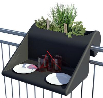 Jardin - Tables basses - Table d'appoint Balkonzept à suspendre / Pour balcons - Jardinière intégrée - Rephorm - Anthracite - Polyéthylène