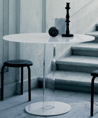 Table ronde Hub / Ø 80 cm - Glas Italia blanc en verre