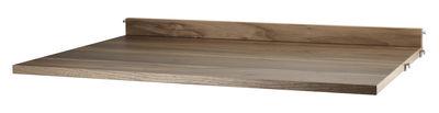 Möbel - Regale und Bücherregale - String® System Tablett / Schreibtisch - L 78 cm - String Furniture - Nussbaum - Sperrholz aus Nusspressspan