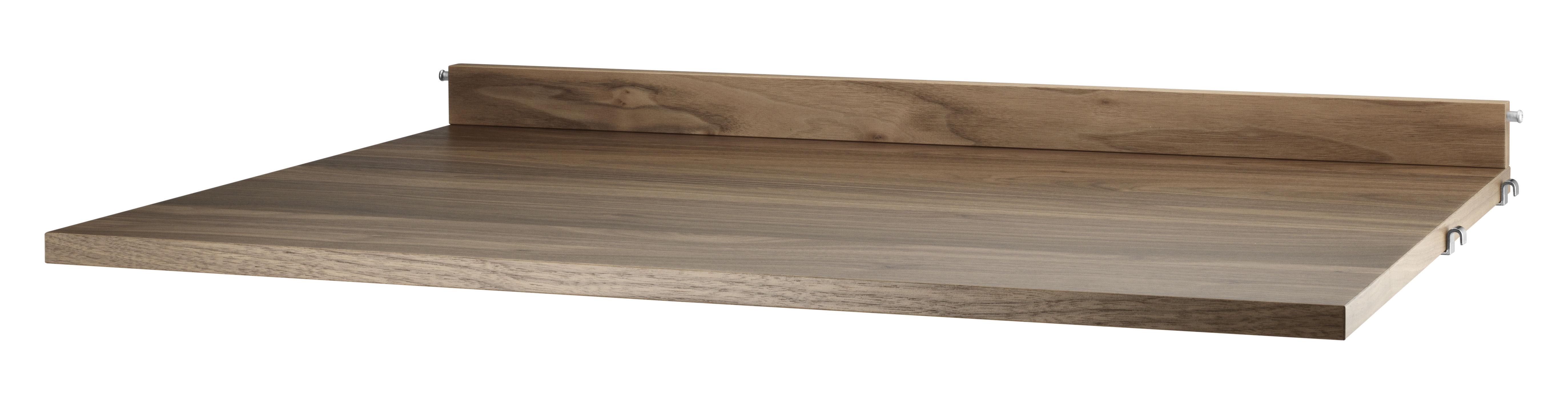 Mobilier - Etagères & bibliothèques - Tablette String System / Bureau - L 78 x P 58 cm - String Furniture - Noyer - Contreplaqué de noyer aggloméré