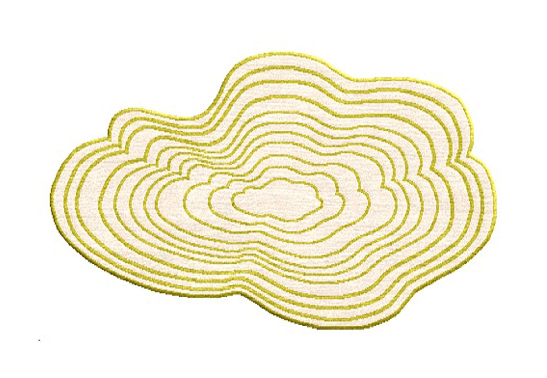 Déco - Tapis - Tapis Clouds / 120 x 70 cm - Chevalier édition - Vert anis & Blanc cassé - Laine