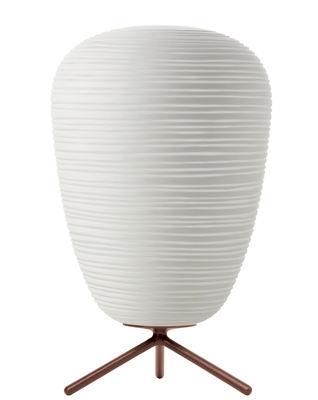 Leuchten - Tischleuchten - Rituals 1 Tischleuchte / Ø 24 cm x H 40 cm - Foscarini - Mit Schalter / weiß - mundgeblasenes Glas
